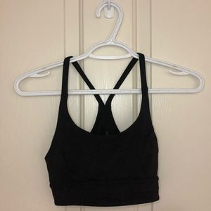 Lululemon Black back mesh sports bra!
